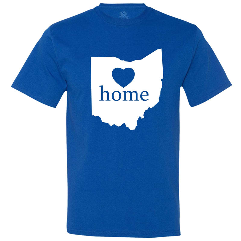 """Ohio Home State Pride"" men's t-shirt Royal-Blue"