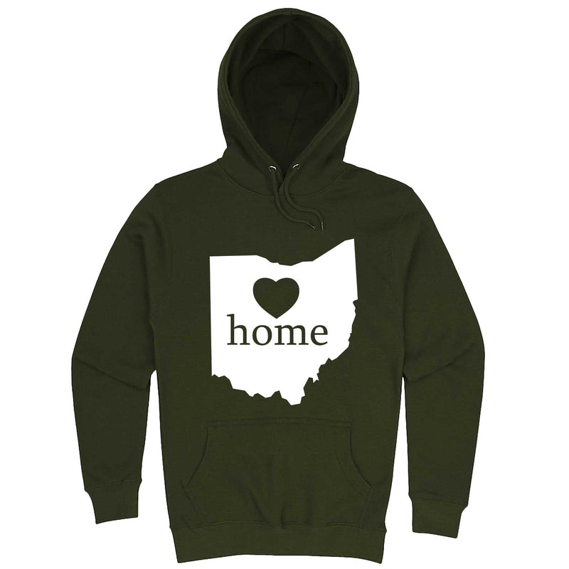 """Ohio Home State Pride"" hoodie, 3XL, Army Green"