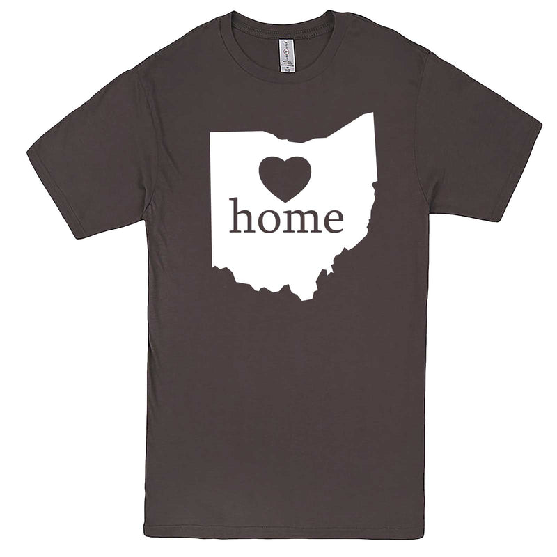 """Ohio Home State Pride"" men's t-shirt Charcoal"