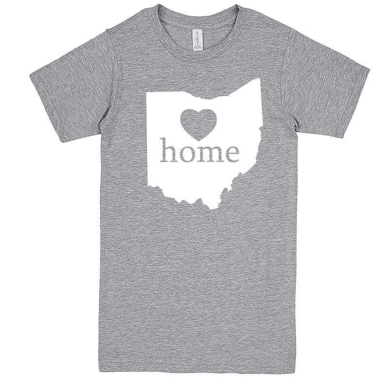"""Ohio Home State Pride"" men's t-shirt Heather-Grey"