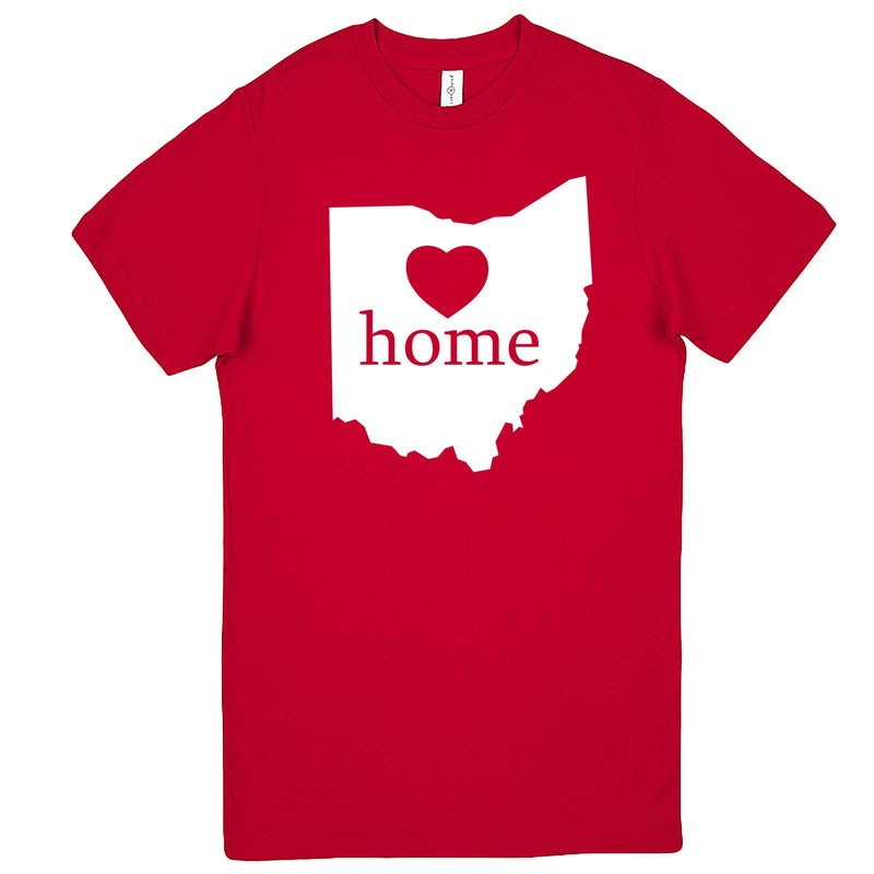 """Ohio Home State Pride"" men's t-shirt Red"