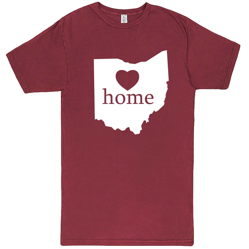 """Ohio Home State Pride"" men's t-shirt Vintage Brick"