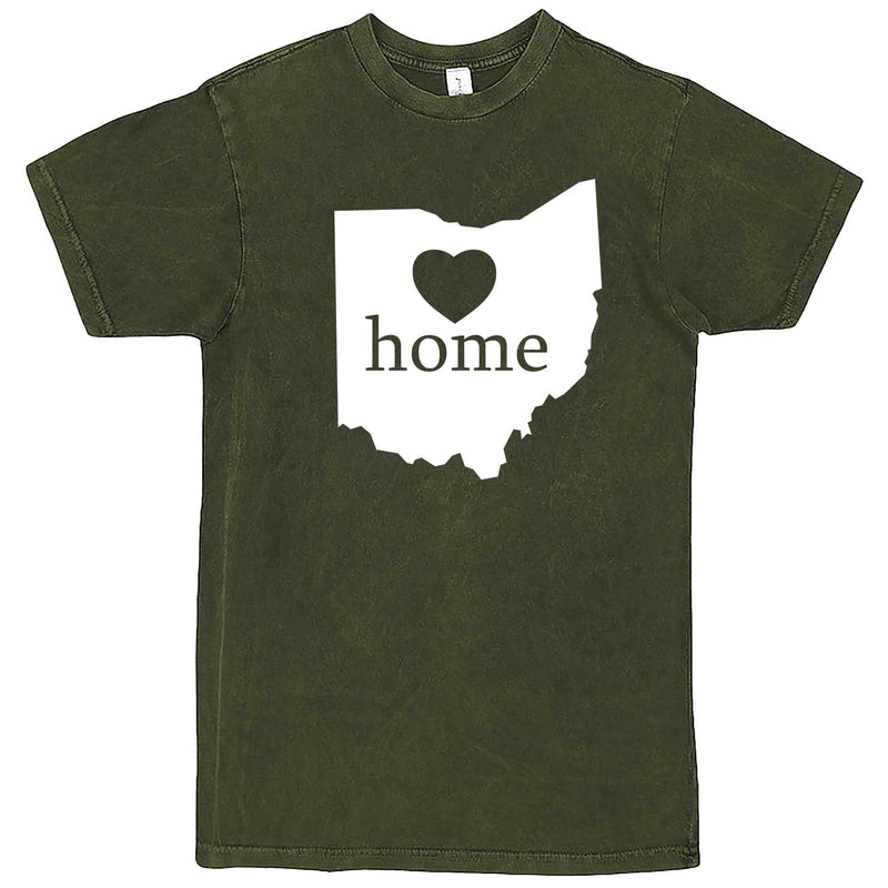 """Ohio Home State Pride"" men's t-shirt Vintage Olive"