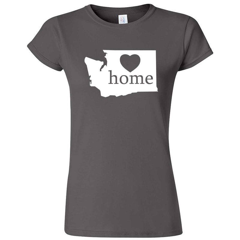 """Washington Home State Pride"" women's t-shirt Charcoal"