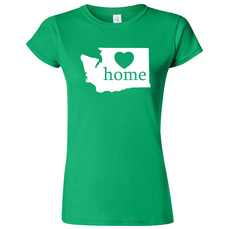 """Washington Home State Pride"" women's t-shirt Irish Green"