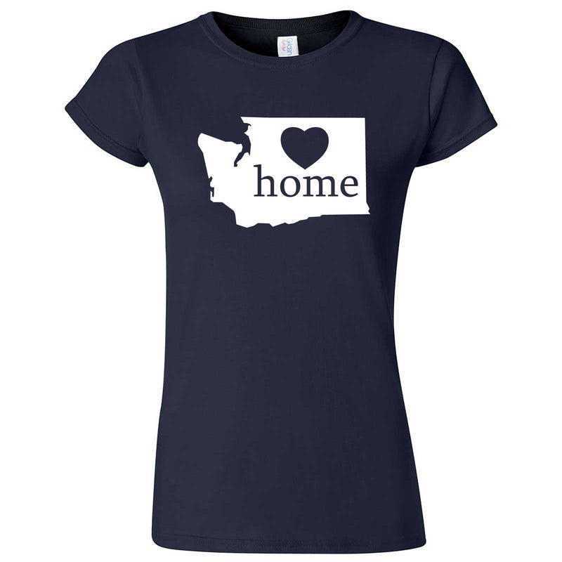 """Washington Home State Pride"" women's t-shirt Navy Blue"