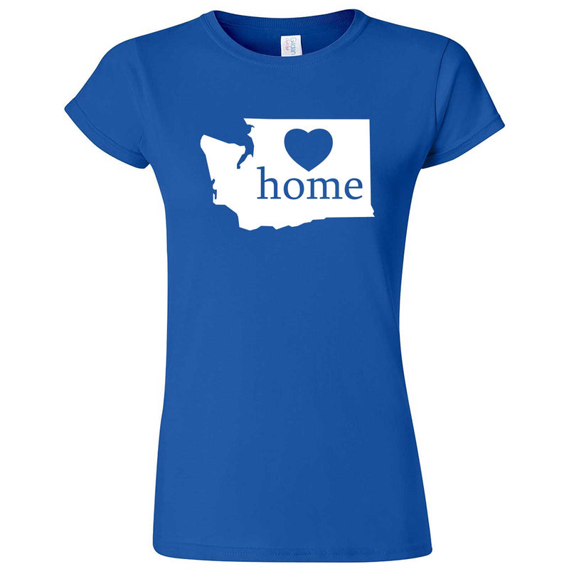 """Washington Home State Pride"" women's t-shirt Royal Blue"