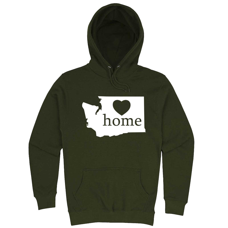 """Washington Home State Pride"" hoodie, 3XL, Army Green"