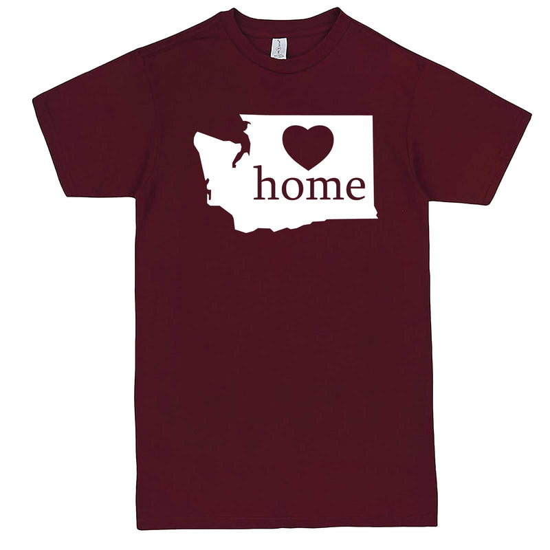 """Washington Home State Pride"" men's t-shirt Burgundy"