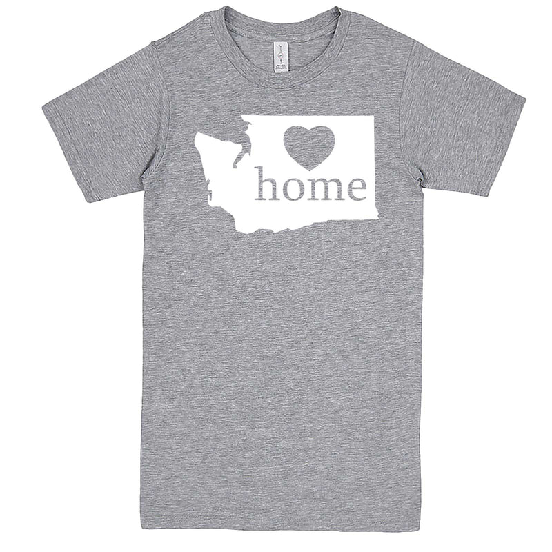 """Washington Home State Pride"" men's t-shirt Heather-Grey"