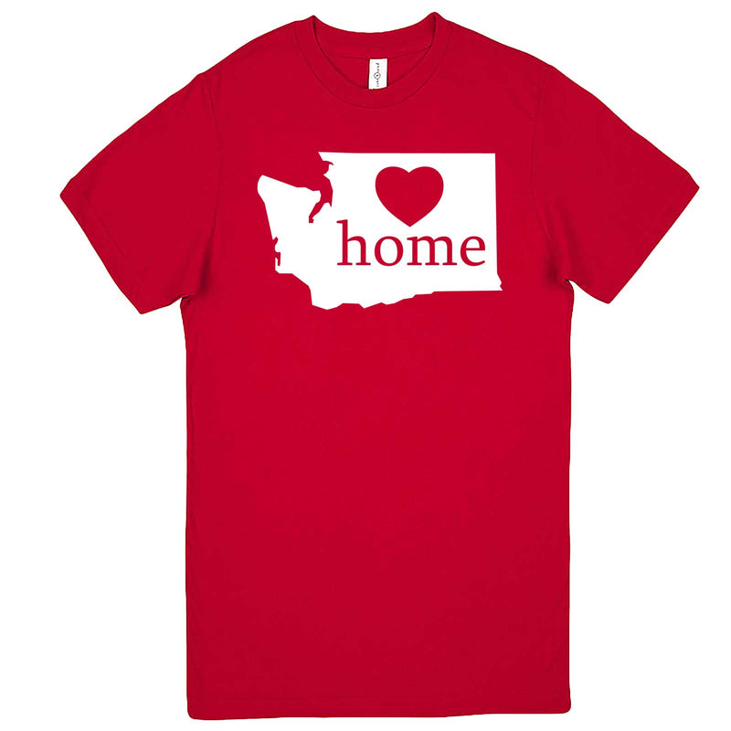 """Washington Home State Pride"" men's t-shirt Red"