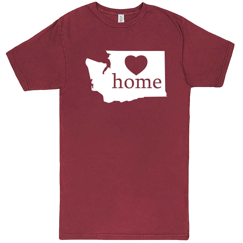 """Washington Home State Pride"" men's t-shirt Vintage Brick"