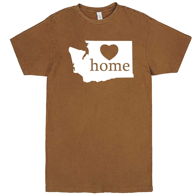 """Washington Home State Pride"" men's t-shirt Vintage Camel"