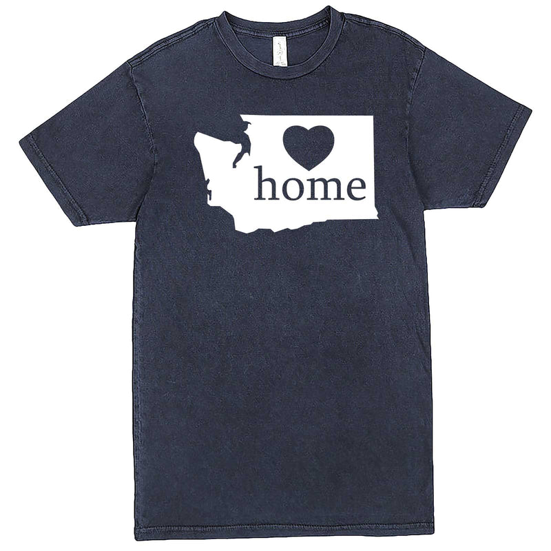 """Washington Home State Pride"" men's t-shirt Vintage Denim"