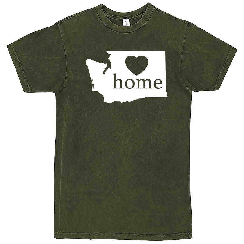 """Washington Home State Pride"" men's t-shirt Vintage Olive"