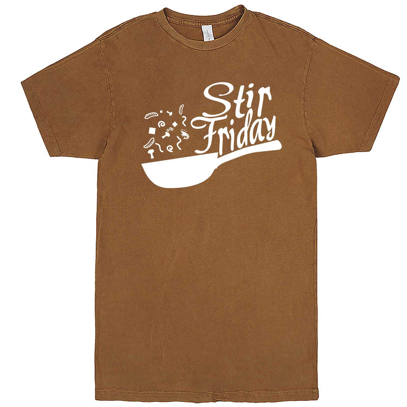 """Stir Friday"" men's t-shirt Vintage Camel"