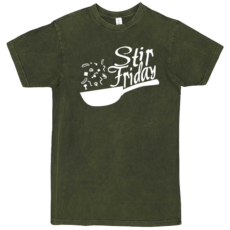 """Stir Friday"" men's t-shirt Vintage Olive"