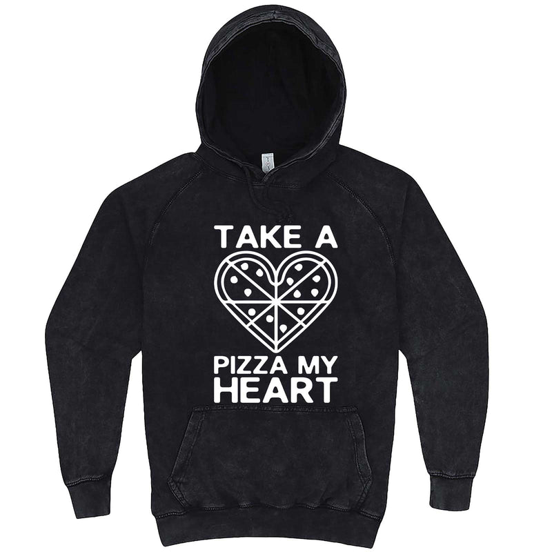 """Take a Pizza My Heart"" hoodie, 3XL, Vintage Black"