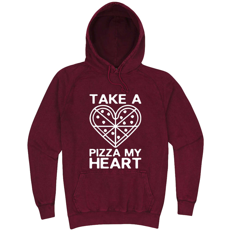 """Take a Pizza My Heart"" hoodie, 3XL, Vintage Brick"