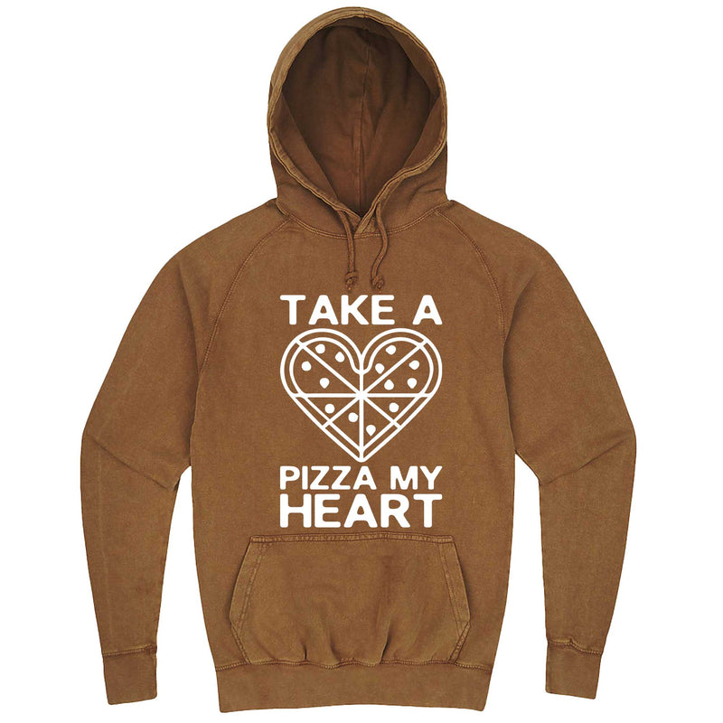 """Take a Pizza My Heart"" hoodie, 3XL, Vintage Camel"