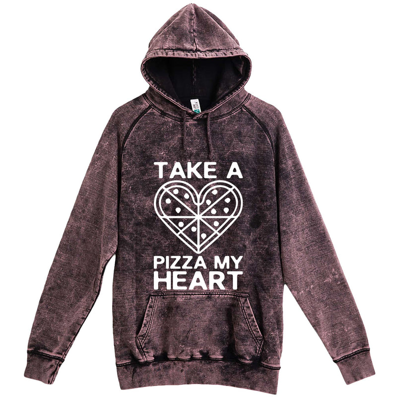 """Take a Pizza My Heart"" hoodie, 3XL, Vintage Cloud Black"