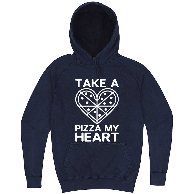 """Take a Pizza My Heart"" hoodie, 3XL, Vintage Denim"