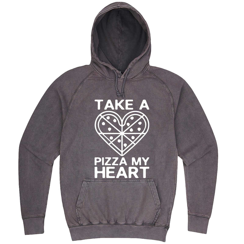 """Take a Pizza My Heart"" hoodie, 3XL, Vintage Zinc"