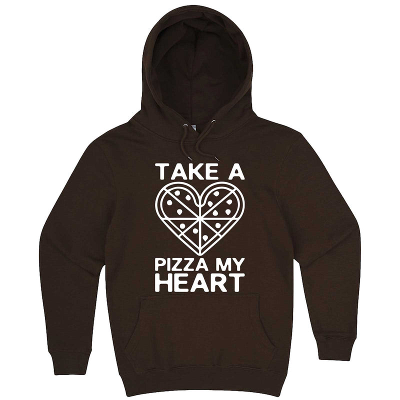"""Take a Pizza My Heart"" hoodie, 3XL, Chestnut"