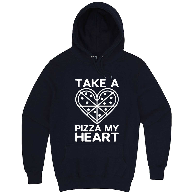 """Take a Pizza My Heart"" hoodie, 3XL, Navy"