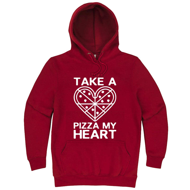 """Take a Pizza My Heart"" hoodie, 3XL, Paprika"