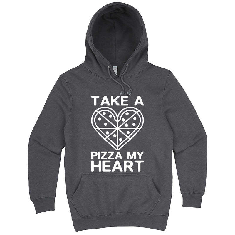 """Take a Pizza My Heart"" hoodie, 3XL, Storm"
