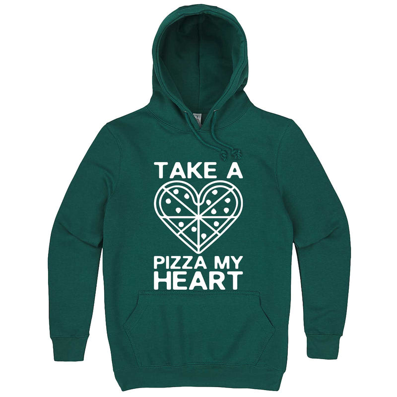 """Take a Pizza My Heart"" hoodie, 3XL, Teal"