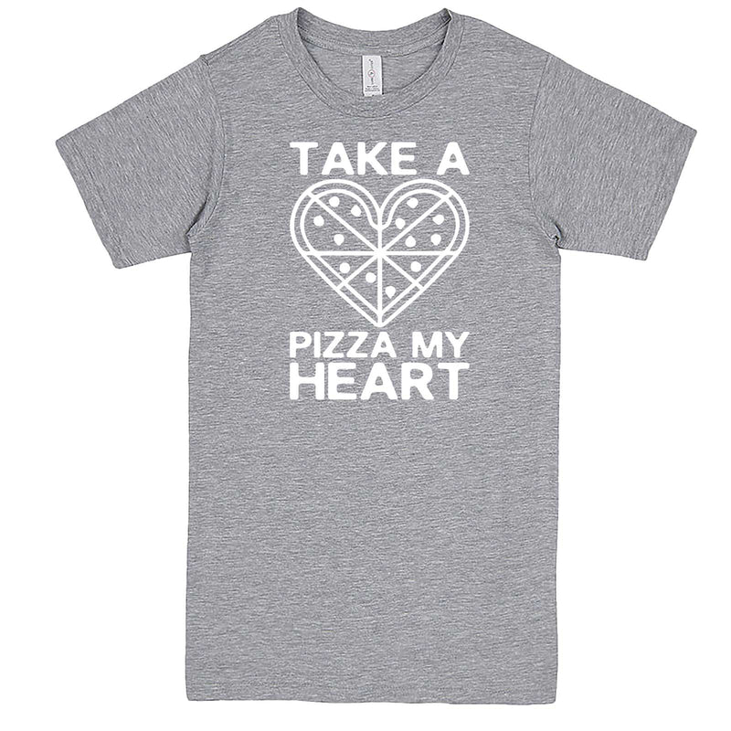 """Take a Pizza My Heart"" men's t-shirt Heather-Grey"