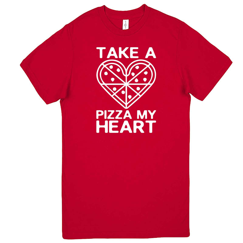 """Take a Pizza My Heart"" men's t-shirt Red"