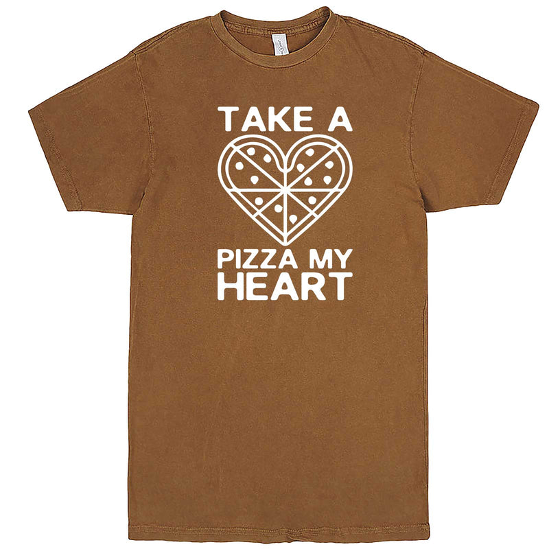 """Take a Pizza My Heart"" men's t-shirt Vintage Camel"