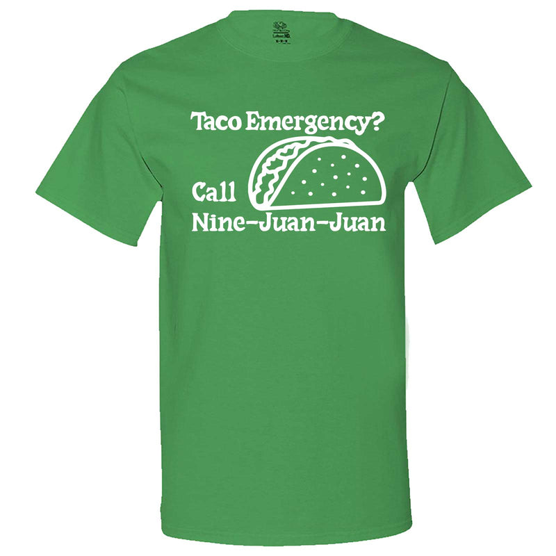 """Taco Emergency Call Nine-Juan-Juan"" men's t-shirt Irish-Green"