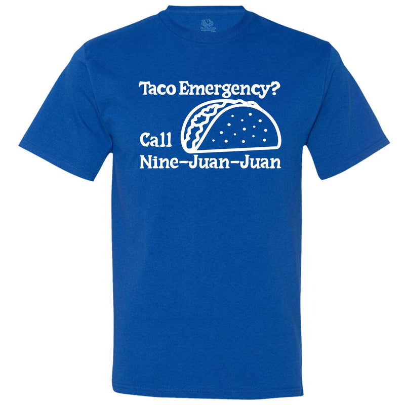 """Taco Emergency Call Nine-Juan-Juan"" men's t-shirt Royal-Blue"