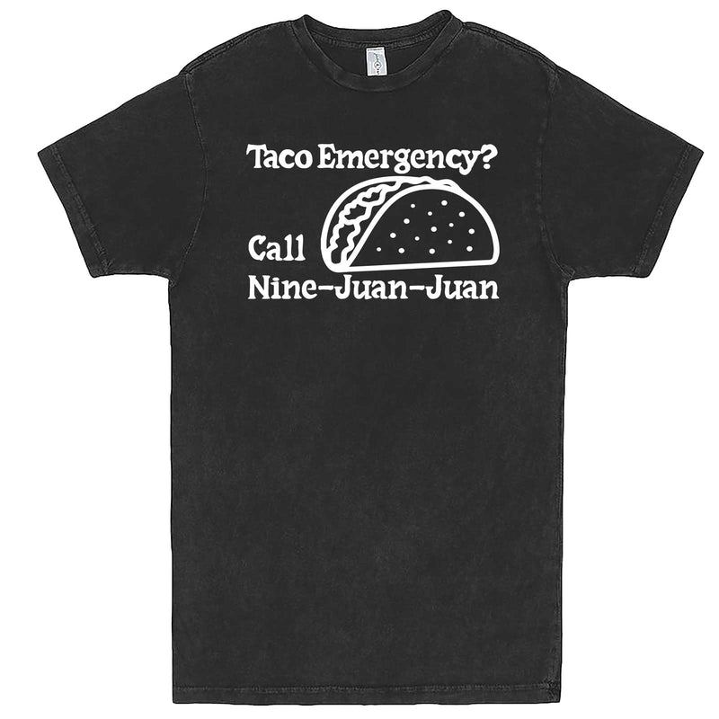 """Taco Emergency Call Nine-Juan-Juan"" men's t-shirt Vintage Black"