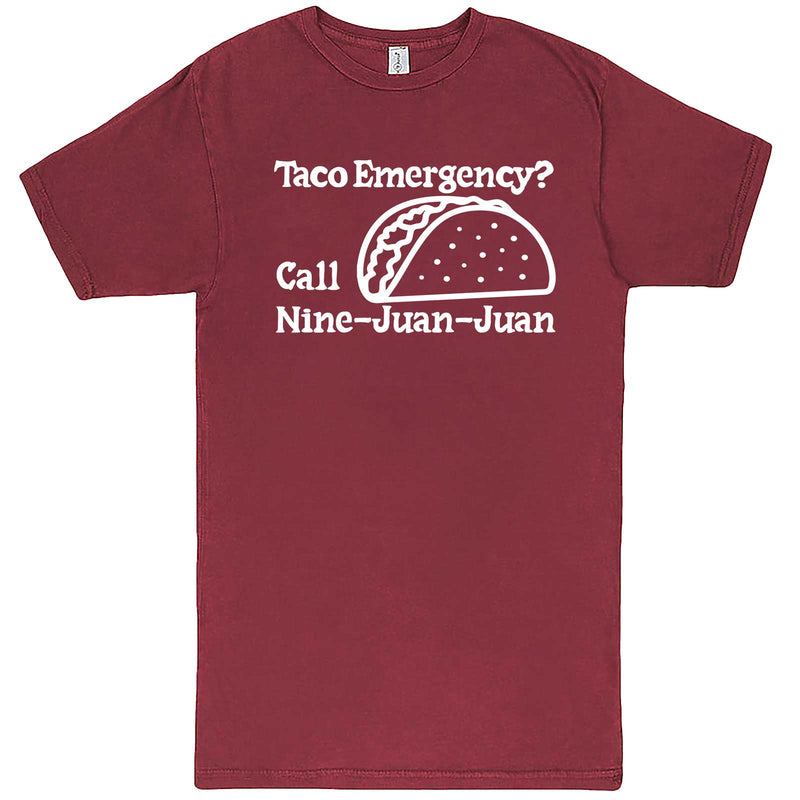 """Taco Emergency Call Nine-Juan-Juan"" men's t-shirt Vintage Brick"