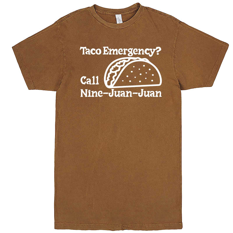 """Taco Emergency Call Nine-Juan-Juan"" men's t-shirt Vintage Camel"