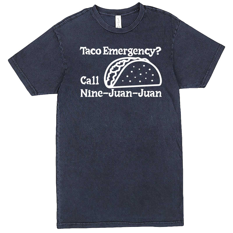 """Taco Emergency Call Nine-Juan-Juan"" men's t-shirt Vintage Denim"