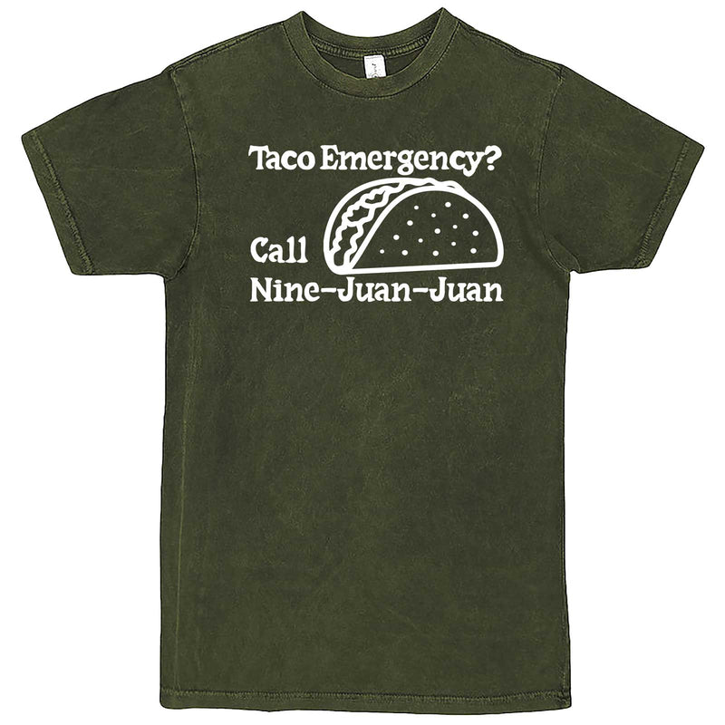 """Taco Emergency Call Nine-Juan-Juan"" men's t-shirt Vintage Olive"