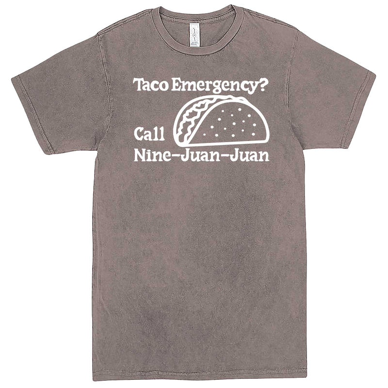 """Taco Emergency Call Nine-Juan-Juan"" men's t-shirt Vintage Zinc"