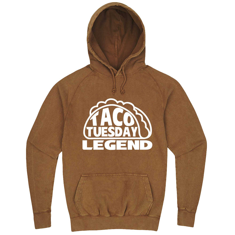 """Taco Tuesday Legend"" hoodie, 3XL, Vintage Camel"