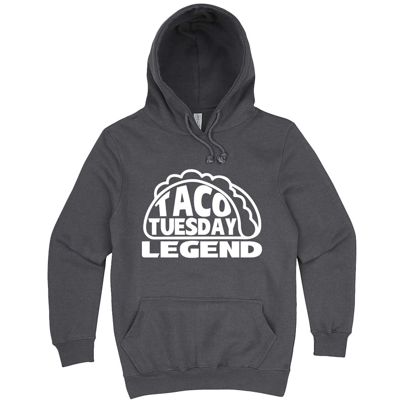 """Taco Tuesday Legend"" hoodie, 3XL, Storm"