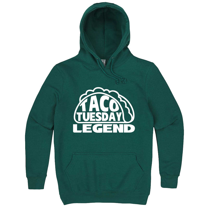 """Taco Tuesday Legend"" hoodie, 3XL, Teal"