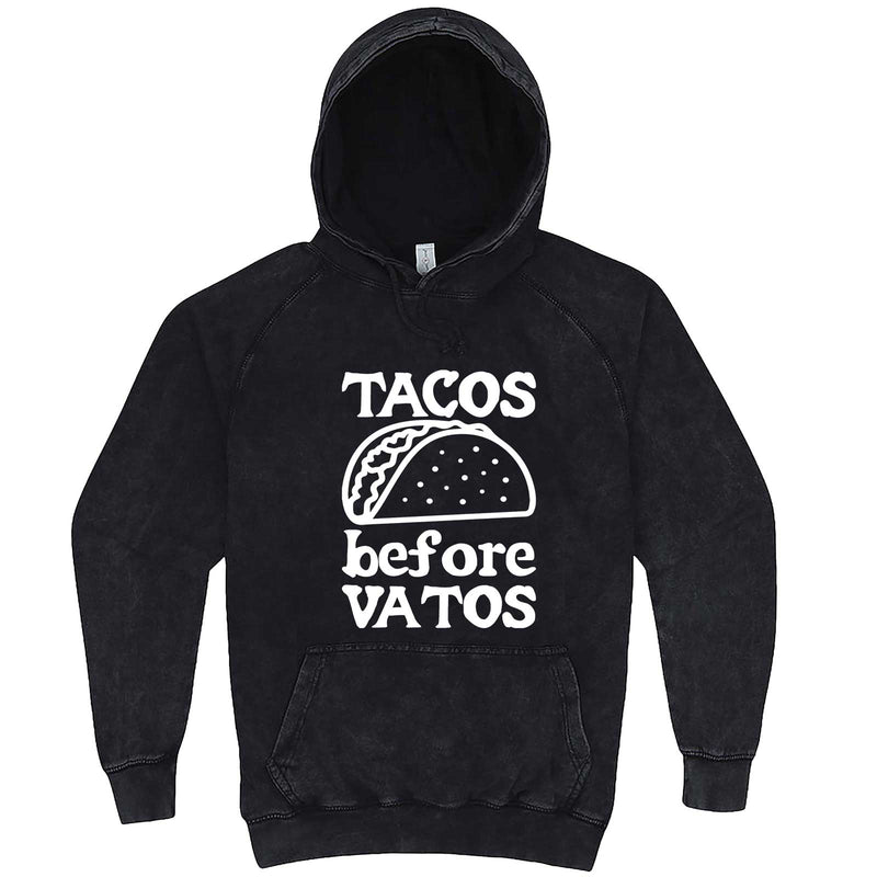 """Tacos Before Vatos"" hoodie, 3XL, Vintage Black"