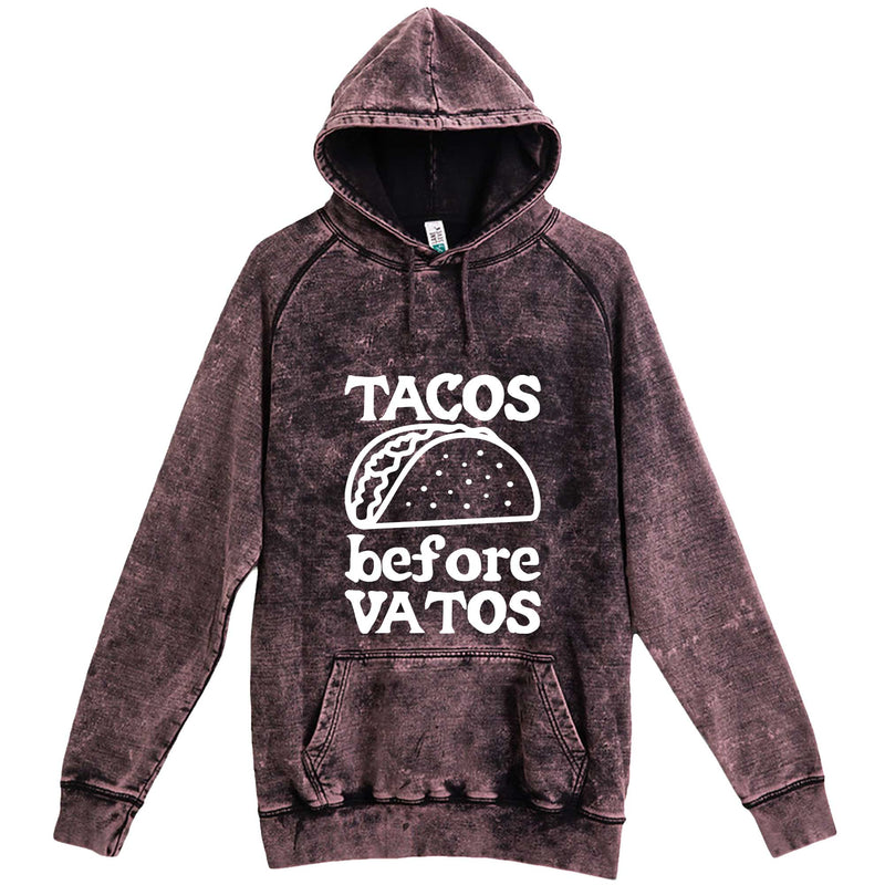 """Tacos Before Vatos"" hoodie, 3XL, Vintage Cloud Black"