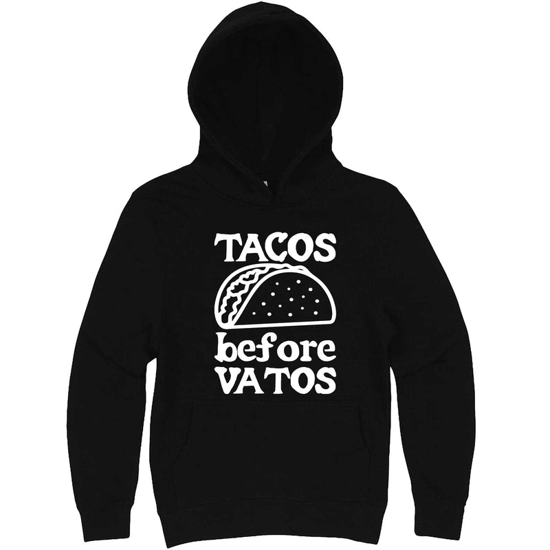 """Tacos Before Vatos"" hoodie, 3XL, Black"