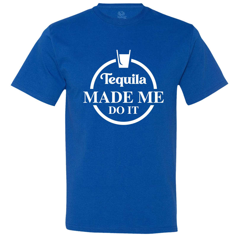 """Tequila Made Me Do It"" men's t-shirt Royal-Blue"